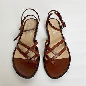 MICHAEL KORS Brown Ankle Strap Sandals
